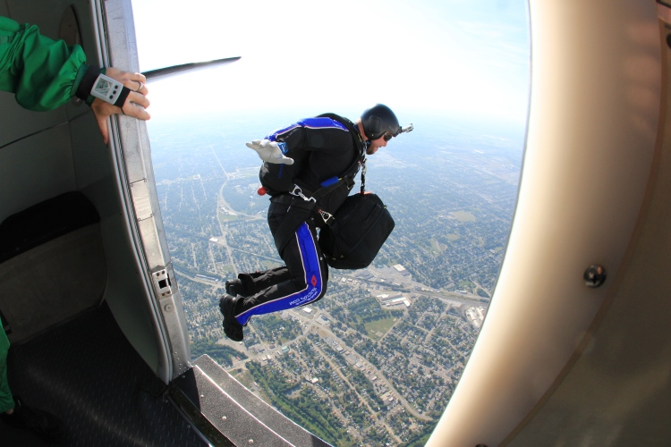 Tandem skydive indy