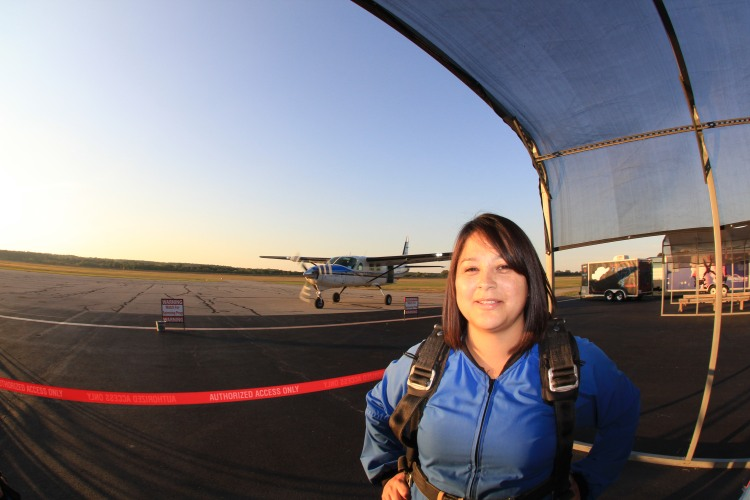 Mary Brumley start Skydiving